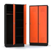 Doppelspind aus Metall - 2-türig Schwarz-Orange