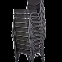 Bankettstuhl gestapelt-schwarz