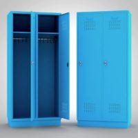 Kleiderschrank Metallspind Blau