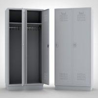 Kleiderschrank Metallspind Grau