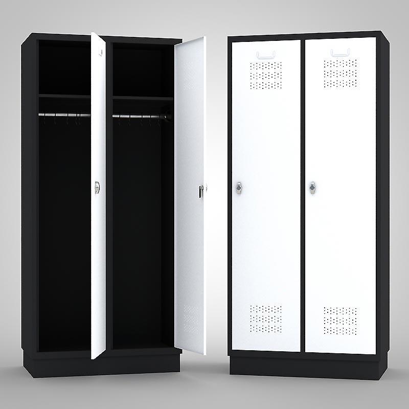 kleiderschrank metallspind schwarz wei mein ausstatter. Black Bedroom Furniture Sets. Home Design Ideas