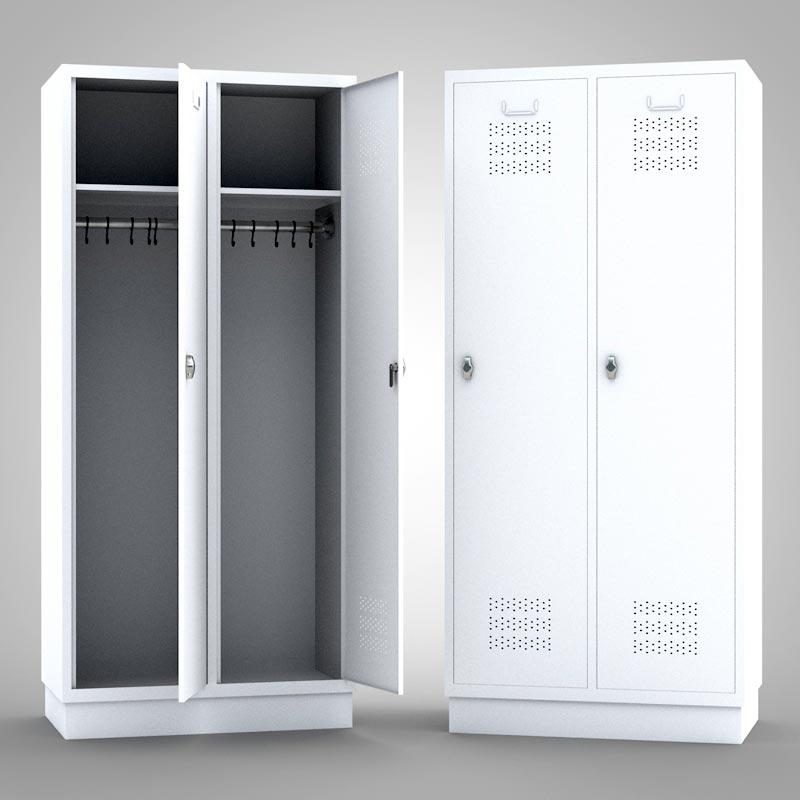 kleiderschrank metallspind wei mein ausstatter. Black Bedroom Furniture Sets. Home Design Ideas