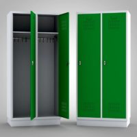 Kleiderschrank Metallspind weiß-grün