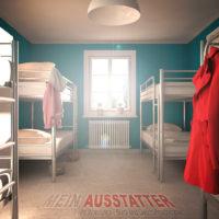 UDO-Metall-Etagenbett im Hostel und Mehrbettzimmer