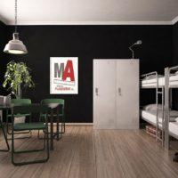 Spinde und Etagenbetten für Monteurwohnung