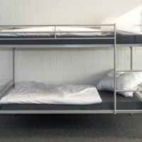 Etagenbett ERIK mit Matratze und Bettwäsche
