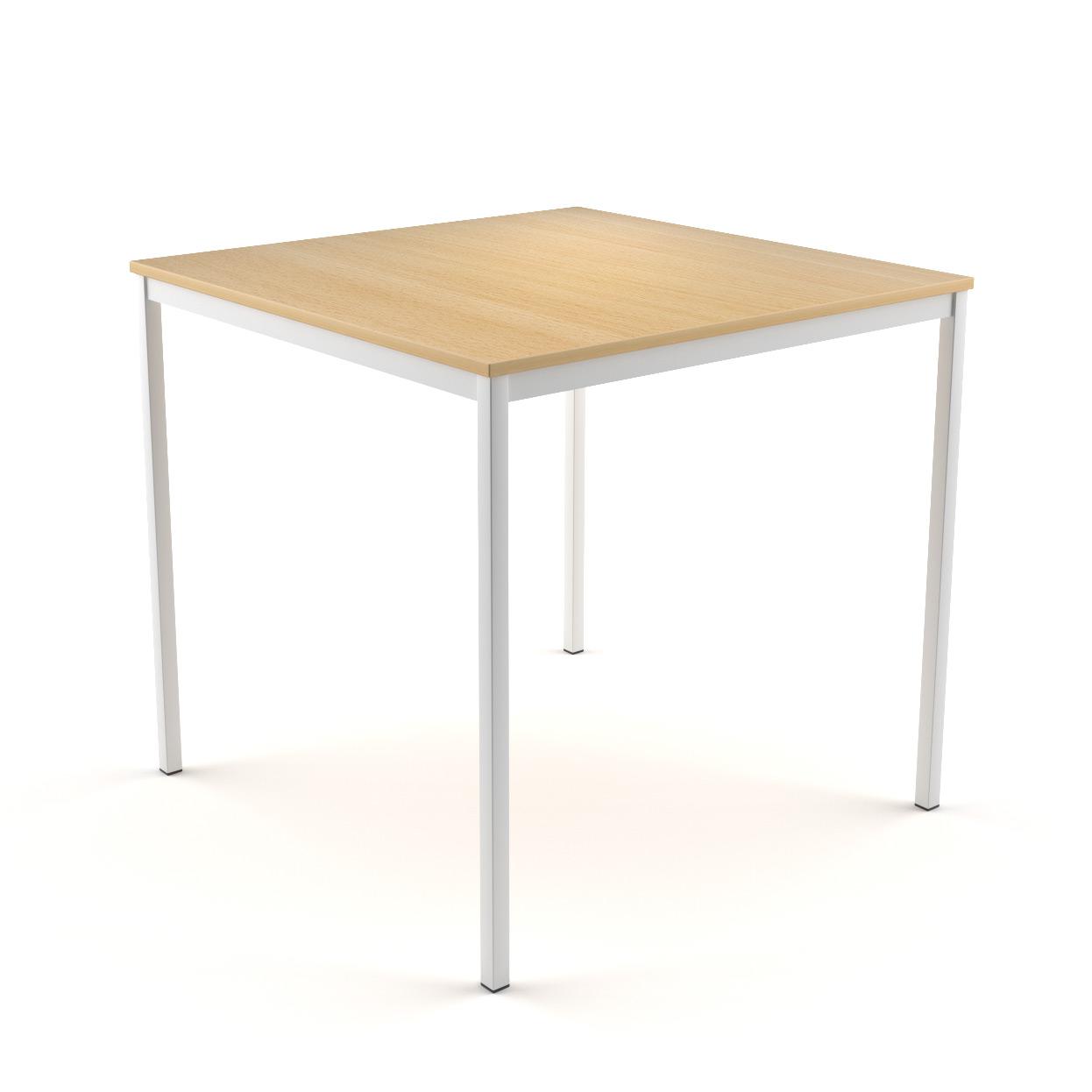 Tisch Oskar mit Buche-Dekor Tischplatte und Metallgestell