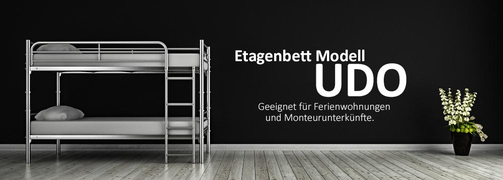 Etagenbett Modell UDO - geeignet für Ferienwohnungen und Monteurunterkünfte