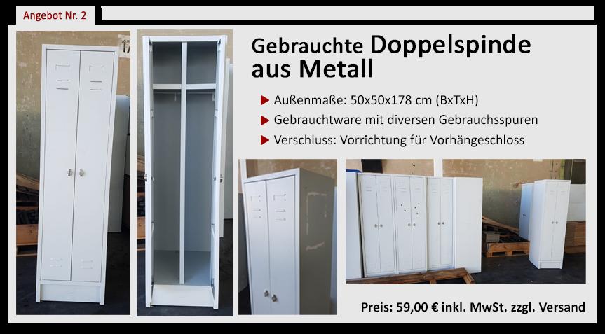 Gebrauchte Doppelspinde aus Metall