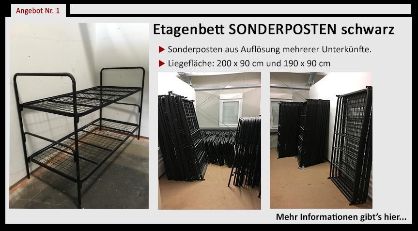 Angebot-gebrauchte-Etagenbetten-schwarz