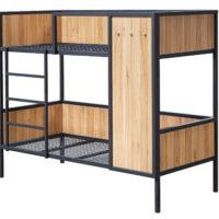 Doppelstockbett mit Holzverkleidung