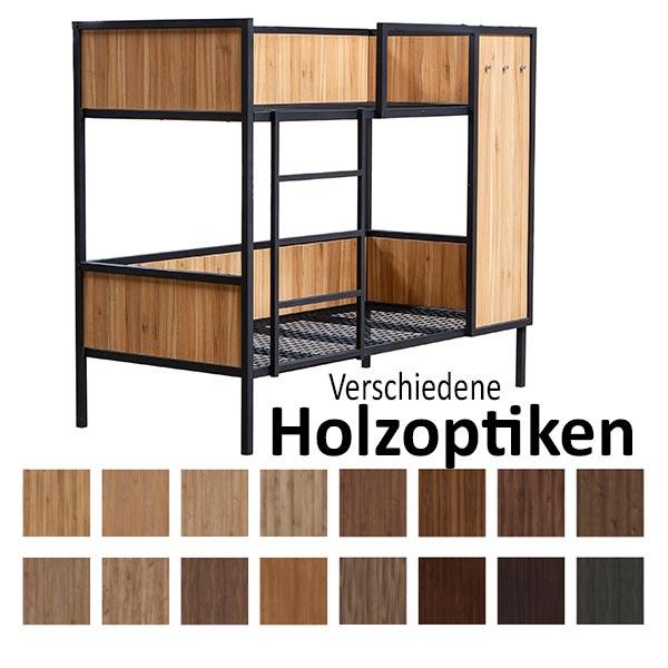 Stahl-Etagenbett ALEX-Holzverkleidung