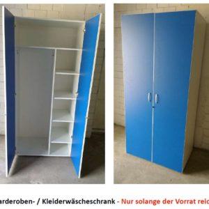 GARDEROBEN-KLEIDERWAESCHESCHRANK-Spind-blau