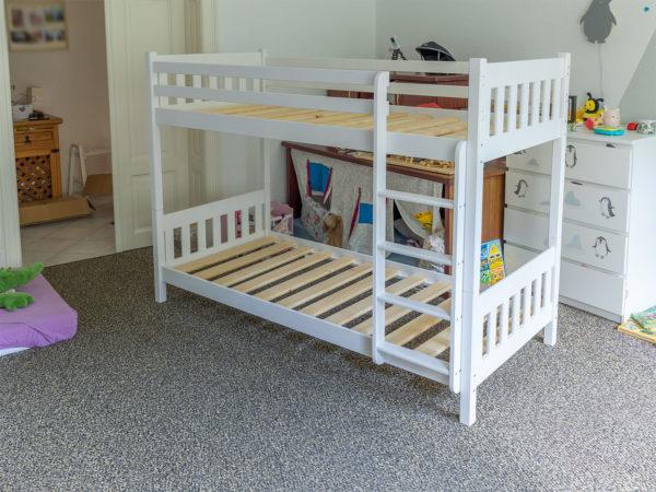 Holz-Etagenbett weiß